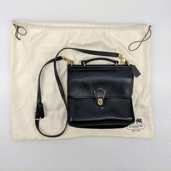 49226b5d433c Coach Handbags - COACH Vintage Willis Black Leather Crossbody Bag